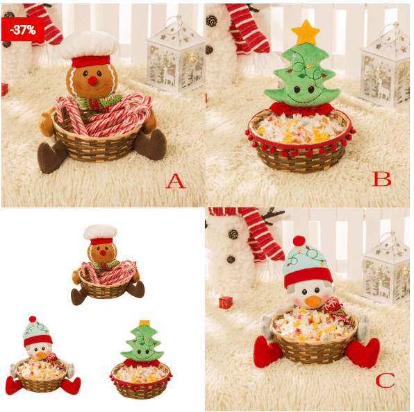 Candy Baskets For Different Types Of Decorations On Christmas